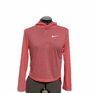 Nike Girls Trophy pink dri fit pullover hoodie